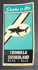 #D94.  OLD  CRONULLA  SHARKS   RUGBY LEAGUE TRANSFER