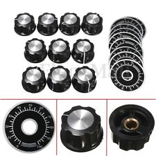 10PCS New Rotary Caps Potentiometer Knobs + 10PCS Counting Dial 0-100 Scale Kits