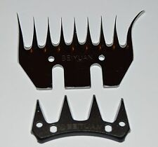 High Strength Stainless Steel CURLY Blade 4 Goat Shearing Sheep Clipper 9 Teeth