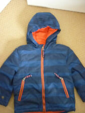 MINI BODEN BOYS FLEECE LINED ANORAK, JACKET NAVY/REEF STRIPE 3-4 YEARS NEW 25093
