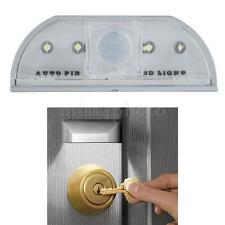 Raggi Infrarossi PIR 4 LED Sensore di Movimento per Buco Serratura Porta Casa