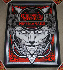 QUEENS OF THE STONE AGE Nine Inch Nails concert gig poster BRISBANE 3-17-14 2014