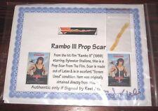 RARE AUTHENTIC RAMBO SCAR MOVIE PROP - STALLONE FIRST BLOOD KNIFE PART III II 3