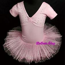 Rhinestone Ballerina Ballet Tutu Dancing Dress Pink Toddler Girl Size 2-3T BA003