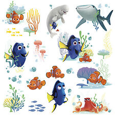 19 FINDING DORY WALL DECALS Disney Pixar Stickers Kids Bedroom or Bathroom Decor