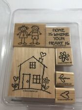 Stampin Up HEART & HOME 2003 Rubber Stamp Set