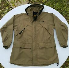 Men's Sz L Timberland Weathergear Coat Khaki Quality Jacket - Hood - Great cond
