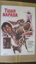 Tiger Napada Original Yugoslavian Movie Poster Chen Sing, Chan Wei Man, Chang...