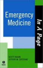 In A Page Emergency Medicine (In a Page Series), Kahan, Scott, Caterino, Jeffrey