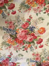 RARE Ralph Lauren Southampton Beach House White Multi Floral Queen Fitted Sheet
