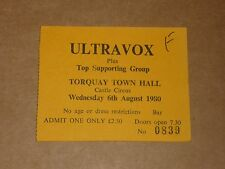 Ultravox 1980 Concert Ticket