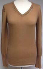 Zadig & Voltaire Deluxe Camel / Tan Cashmere Knit Jumper Sweater Top XS UK 10 12