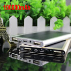 100000mAh Portable Solar Charger Dual USB External Battery Power Bank For Phone