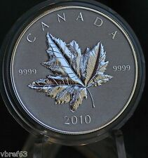 2010 CANADA Piedfort Silver Maple Leaf Reverse proof 1 oz. coin only