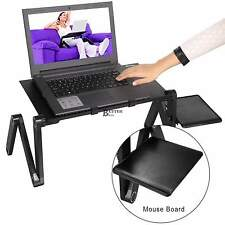 360°Adjustable Foldable Aluminum Laptop Notebook Desk Table Bed Tray Black