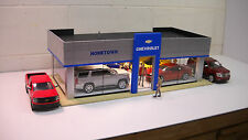 Chevrolet Modern Model Car Dealership Diorama custom built 1/24  1/25th scale!