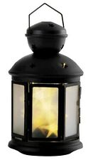 Holiday Living Metal Battery Operated Black Lantern, Star Shaped LEDS,  Must See