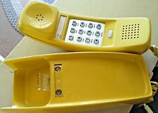Vintage Western Electric Yellow Trimline Touch Tone Wall Phone Archer Adapter