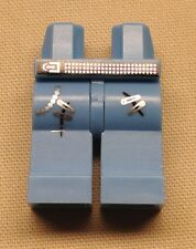 x1 NEW Lego Minifig Legs w/ Studded Belt and Safety Pins Pattern MEDIUM BLUE
