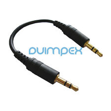 F39 Top 30cm Câble audio 3,5mm Adaptateur Jack Contact or Voiture mp3