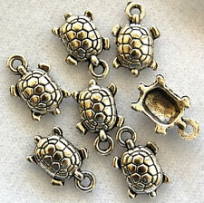 20 Turtle Tibetan Zinc Alloy Lead Free Beads Charms