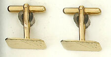9ct Yellow Gold Engraved Cufflinks Made To Order in Jewellery Quarter B'ham