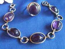 Schmuckset Armband und Ring 835er Silber mit Amthyst Fingerring / Art. G 155