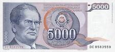 Jugoslawien / Yugoslavia 5.000 Dinara Pick 93a Tito
