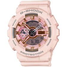 Casio G-Shock Gold and Pink Dial Pink Resin Quartz Unisex Watch GMAS110MP-4A1