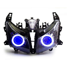 KT Headlight Assembly HID Projector LED Halo Eyes for Yamaha TMAX 530 2012-2014