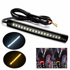 Bendable 17LED Strip Amber White Light Turn Signal Indicator 2835 SMD Motorcycle