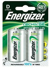 Energizer Rechargeable D Batteries | 2500 mAh | Pack of 2