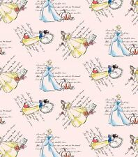 Disney Fashionable Princesses Cotton Fabric ~ by the HALF YARD