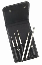 Mayhew Pro 15006 150-Line Pin Punch Set w/ Leather Pouch 5 Piece - Made in USA