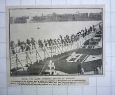 1917 Engineers In Mesopotamia Construct Bridge Of Boats To Transport Heavy Gun