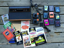 ATARI 2600 CX-2600A NTSC 6-Switch Console w/Controllers, 9 GAMES, Untested