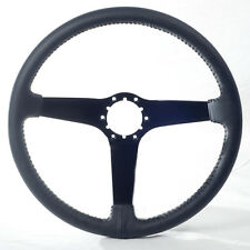 1980 - 1982 Corvette Steering Wheel Black Leather Black Center NEW .