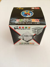 MAGIC MIRROR SILVER CUBE 3 X 3 SIX SIDED PUZZLE IN BOX SHENGSHOU TWIST NOVELTY