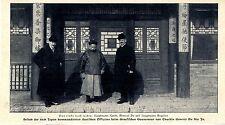 Hptm. Kundt Hptm. Engelien Chinesischer Gouverneur General Du Sio In  Bildd.1907