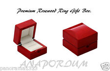 Rose Wood, Premium Ring Box Wedding/Engagement Ring Box Jewelry Box. B3