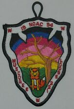Lodge 221  Muscogee  A2  1994 NOAC Pocket Patch  OA  BSA
