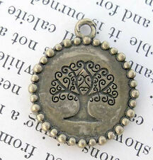 Bronze TREE OF LIFE  Pendant GODDESS Jewelry NR Wicca Bead vintage charm antique