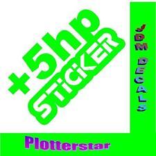 + 5hp Sticker Power Hater JDM Sticker aufkleber oem PS Power fun like Shocker