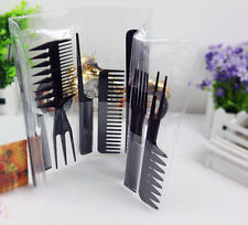 Professional Brushes Hairdressing Hair Salon Styling Barbers Set Kit Black10pcs