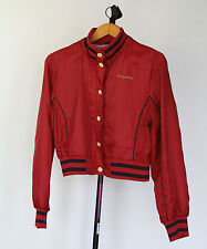 Baby Phat Junior's XL Maroon Nylon Jacket with snaps & embroidery