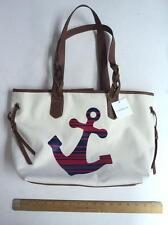 Women's Croft & Barrow Red White Blue Anchor Tote Bag Ladie's Purse FLASH SALE