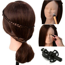 Makeup Mannequin 90% Real Human Hair Practice Training Head Doll Salon Model Top