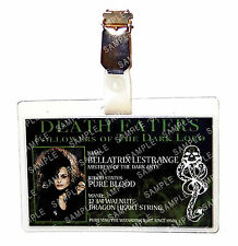 Harry Potter Death Eater Bellatrix Lestrange ID Badge Cosplay Costume Christmas