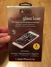 ZAGG InvisbleShield Glass Luxe Screen Protector Rose Gold Finish for iPhone 6/6s