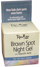 REVIVA LABS - Brown Spot Night Gel with Glycolic Acid - 1.25 oz. (35 g)